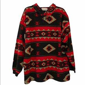 Vintage Bugle Boy Aztec pullover hoodie